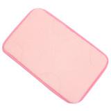 Non-slip Soft Memory Foam Bath Bathroom Shower Door Floor Mat Rug Pad Carpet Pink (Intl)