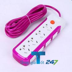 Ổ cắm điện chống giật ngay cả nước ngập GT247 (Tím)