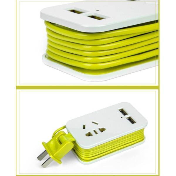 Ổ cắm điện nhỏ gọn thông minh dành cho Macbook, laptop  1.5m