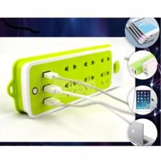 Hình ảnh Ổ cắm điện thông minh đa năng 6 phích cắm tích hợp 3 cổng sạc USB 2A