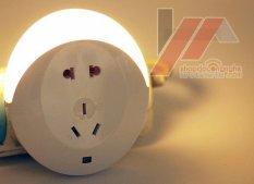 Ổ cắm kèm đèn led cảm ứng -AL