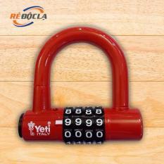 Ổ Khóa mã số chữ U YETI L-701 ( Đỏ )- Better Shop
