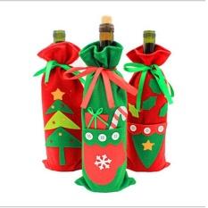 Hình ảnh Oppoing 3 cái Giáng Sinh Rượu Bao Giá Đỡ Tặng Túi Trang Trí Tiệc Đồ Dùng Trang Trí Giáng Sinh, 11.8x5.9 inch-quốc tế
