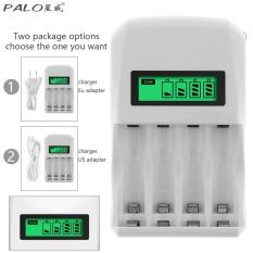 PALO 4 Khe Cắm Màn Hình LCD Hiển Thị Thông Minh Sạc Nhanh cho Pin Hỗ Trợ Khác Nhau Pin Hỗn Hợp Sạc-quốc tế
