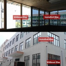 Hình ảnh Panda Online 2M x 50CM Silver Solar Reflective Window Film Paper Insulation Stickers One Way Mirror - intl