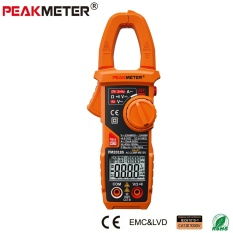 PEAKMETER 2018S Portable Smart AC Digital Clamp Meter Multimeter AC Current Voltage Resistance Continuity Measurement Tester - intl