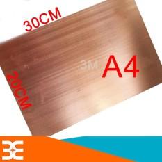 Hình ảnh Phíp Đồng KB Khổ A4 làm mạch in thủ công