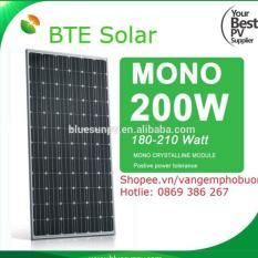 pin mặt trời mono  200w BTE Solar 18v