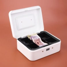 Portable Store Cash Secret Security Safe Box Password Lock Metal Medium Size - intl