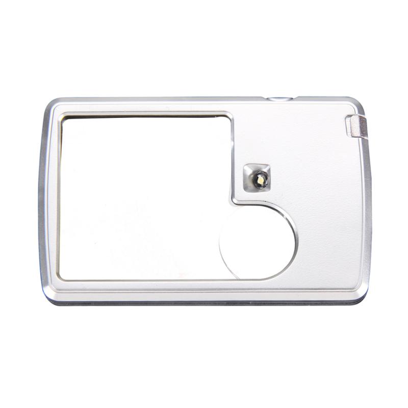 Công suất 3x 6x LED Chiếu Sáng Thẻ hình Kính Lúp Đọc Sách Quan Sát Công Cụ (Quốc Tế)