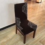 Printing flower Spandex Stretch Dining Chair Cover Restaurant For Weddings Banquet Folding Hotel Chair Covering