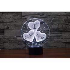 Mua Qua Tặng I Love You Đen 3D Huyền Ảo Chiếu Sang 7 Mau Trực Tuyến Rẻ
