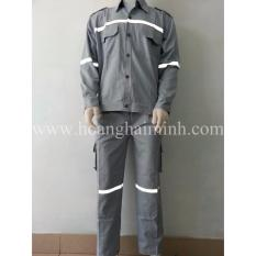 Hình ảnh Quần áo bảo hộ vải Cotton (Xám)