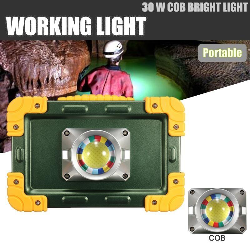 Bảng giá Sạc Di Động LED 30 wát Làm Việc Ánh Sáng Ngoài Trời Sân rọi Đèn Đèn Xanh Lá-quốc tế
