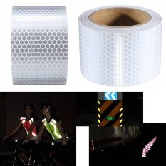 Hình ảnh Reliable High Intensity Reflective Safety Tape Vinyl Roll Self-Adhesive White Warning Sign - intl