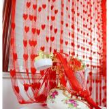 Rèm cửa trái tim sang trọng (đỏ)
