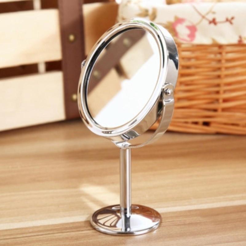 Bàn tròn Gương 2 mặt Xoay Được Tráng Gương Phóng Đại Vẻ Đẹp Mỹ Phẩm Trang Điểm Gương Trang Trí-quốc tế