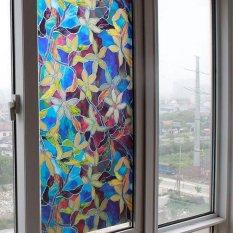 Hình ảnh Tự Dính PVC Màu Phong Lan Cửa Sổ Bộ Phim Tư Nhân Bảo Vệ Tĩnh Điện Kính DIY Dán-quốc tế