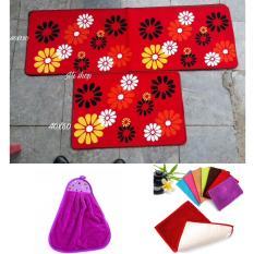 Mua Set Thảm Đoi Nha Bếp 60X40 120X40 01 Khăn Lau Tay 01 Thảm San Ho Tiện Dụng Mi Shop