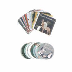 Hình ảnh Snowman Christmas Decor Box Sealing Stickers Diy Xmas Gift Bag Sealing - intl