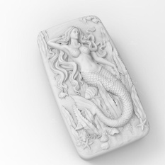 Mua Soap Molds Silicone Craft Mermaid Flexible Soap Making Mould DIY Wax Resin Mold - intl