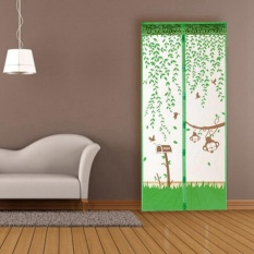 Star Mall Magnetic Soft Mosquito Door 100cm * 210cm Green 1PCS Prevent Insects Flying Out Of Mosquitoes Or Flying Insects