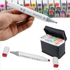 Mua Sinh viên thường được sử dụng 60 Màu Dual Đầu Nghệ Thuật Phác Thảo Sinh Đôi Dấu Bút Highlighters có Bao Đựng cho Tranh Tô Màu Nổi Bật và Underlining-quốc tế