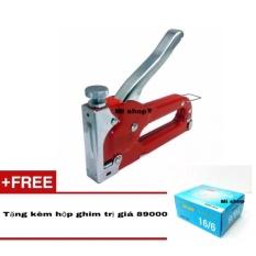 DỤng CỤ BẮn Ghim CẦm Tay CÓ ĐiỀu ChỈnh TĂng LỰc(đỏ)+ Hộp Ghim 16/6 By Mi Shop (hà Nội).