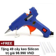 Súng bắn keo Nến silicon (Xanh) + Tặng 49 cây keo Silicon nến