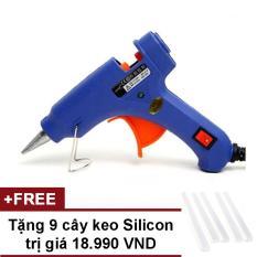 Súng bắn keo Nến silicon (Xanh) + Tặng 9 cây keo Silicon nến