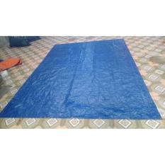 Tấm bạt màu xanh mỏng, kích thước 4m x 5m, không thấm nước
