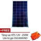 Ôn Tập Trên Tấm Pin Năng Lượng Mặt Trời Poly 110W Tặng 1 Sạc Kts 12V 250W Lite