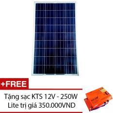 Giá Bán Tấm Pin Năng Lượng Mặt Trời Poly 150W Tặng 1 Sạc Kts 12V 250W Lite Xanh Lam Đậm Nguyên