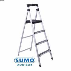 Thang nhôm ghế 4 bậc Sumo Nhật Bản ADS-604 (chiều cao bậc trên cùng 96cm)