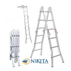 Thang Nhôm Gấp 4 Đoạn Nikita Nhật Bản TGA47 - 4 Bậc 4,7m