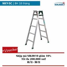 Thang nhôm gấp Nikawa NKY-5C (Trắng)