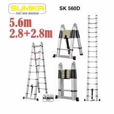 Hình ảnh Thang rút nhôm đôi Sumika SK 560D (5.6m)