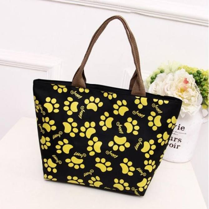 Thermal Insulated Tote Picnic Lunch Cool Bag Cooler Box Handbag Pouch BK - intl