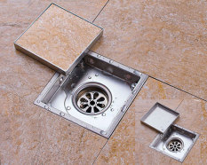 Hình ảnh Thoát sàn chống mùi hôi và côn trùng H8354 (Hai mặt - 15x15cm)
