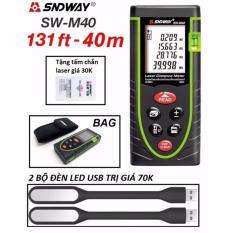 Giá Bán Thước Đo Khoảng Cach Bằng Tia Laser Sndway Sw M40 Phạm Vi Đo 40M Tặng 2 Đen Led Usb Mới Rẻ