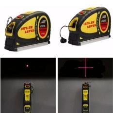 Hình ảnh Thước laser đa năng cân mực + thước kéo 5.5m HQ PLaza T483I