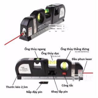 Thước Nivo laser LV-10 cân mực laser đa năng cân bằng kèm thước kéo 2,5m thumbnail