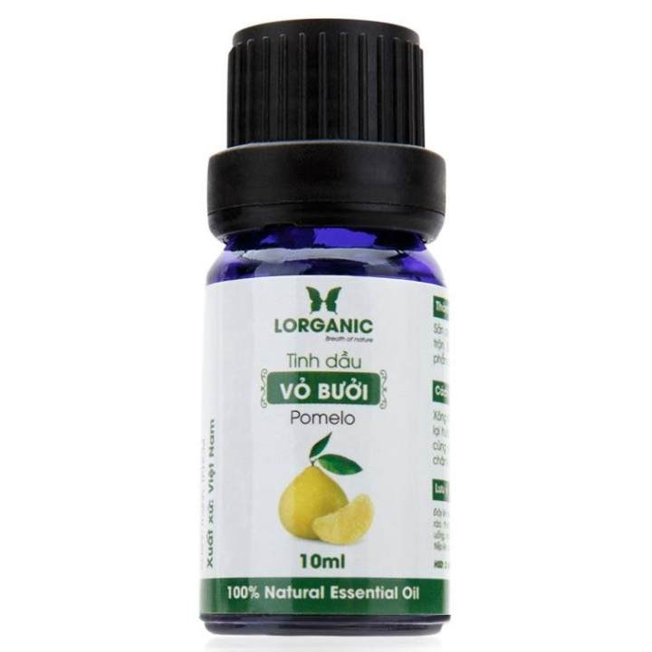 Tinh dầu vỏ bưởi nguyên chất Lorganic Pomelo 100% Natural Essential Oil 10ml