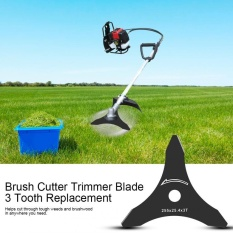 TMISHION 1pc 10 x 3T Brush Cutter Trimmer Blade 3 Tooth Replacement (Black) - intl