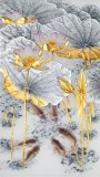 Tranh Dan Tường 3D Khổ Dọc Phong Thủy Ca Chep Hoa Sen Vtc Lunatm 0063 Rẻ