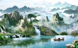 Mua Tranh Dan Tường 3D Phong Thủy Sơn Thủy Hữu Tinh Vtc Lunatm 0080 Kt 160 X 100 Cm Mới
