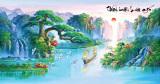 Bán Tranh Dan Tường 3D Phong Thủy Thuận Buồm Xuoi Gio Vtc Lunatm 0024 Có Thương Hiệu Nguyên