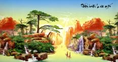 Giá Bán Tranh Dan Tường 3D Phong Thủy Thuận Buồm Xuoi Gio Vtc Lunatm 0094 Nhãn Hiệu Vtc