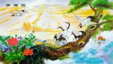 Bán Tranh Dan Tường 3D Phong Thủy Tung Hạc Dien Nien Cat Tường Đồ Vtc Lunatm 0084 Mới