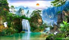 Mua Tranh Dan Tường 3D Phong Thủy Tung Hạc Dien Nien Vtc Lunatm 0021 Kt 170 X 100 Cm Mới Nhất